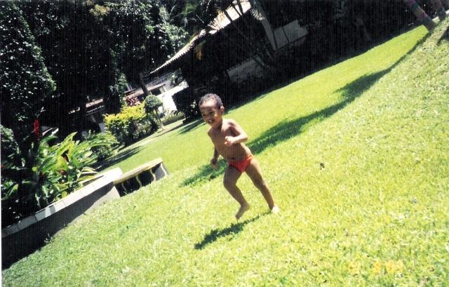 foto, peu, gramado