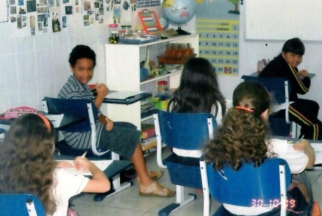 foto, Peu, sala de aula, Montessori