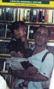 foto, peuzinho, pai, livraria