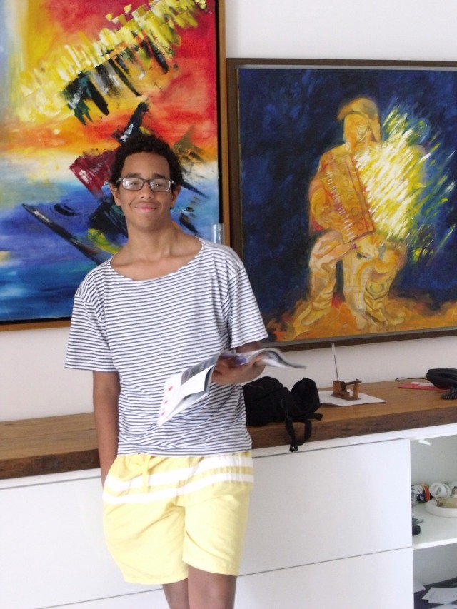 Peu, 12 anos, sa, pinturas, gonzagão