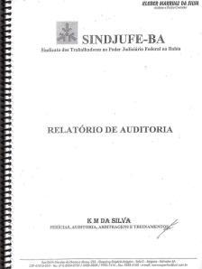 RELATÓRIO DA AUDITORIA