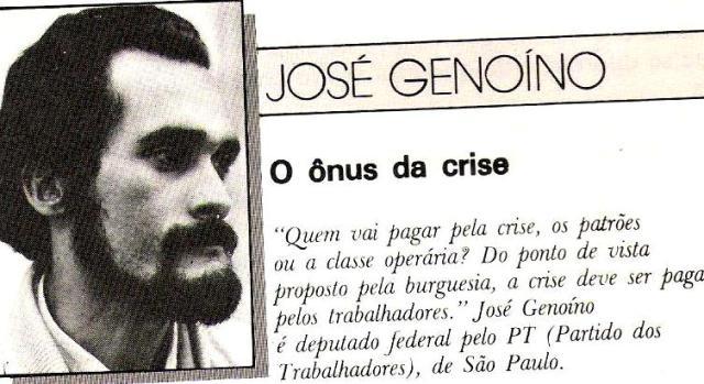 Retrato do Brasil, Genoíno