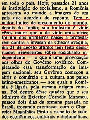 romênia, Brasil, 1968, 2