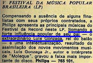 Veja 1970, Gonzaga, Gonzaguinha