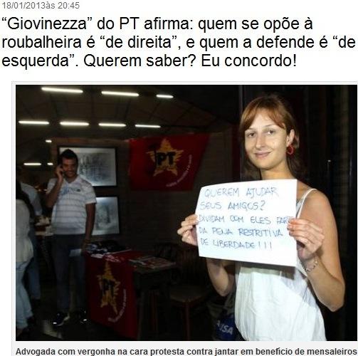 protesto contra mensaleiros