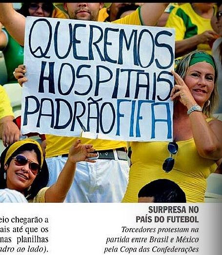 VEJA, OS SETE DIAS QUE ABALARAM..., HOSPÍTAIS PADRÃO FIFA