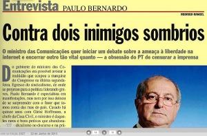 VEJA, OS SETE DIAS QUE ABALARAM..., PÁGINAS AMARELAS, PAULO BERNANDR