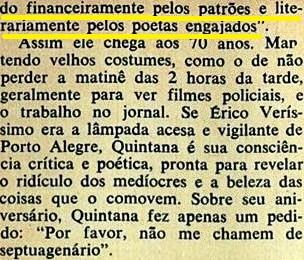 QUINTANA2, VEJA, AGOSTO 1976