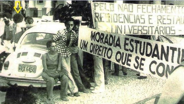 Reitoria, Luiz Caetano, manifestação, 1979