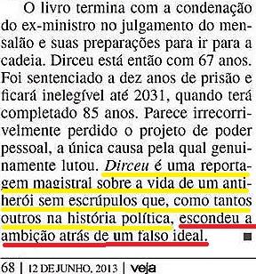 Veja, 12jun2013, DIRCEU NÃO É EXEMPLO