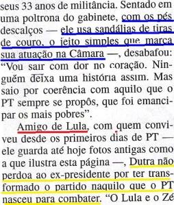 Domingos Dutra, Lula, Veja 14ago2013, 2
