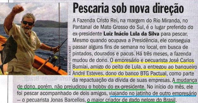 Lula, Pesca, Veja 04set13