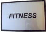 MODERN LIVING, FITNESS, placa