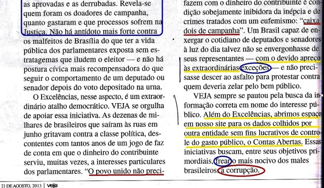 Veja, Editorial 21ago13 -2