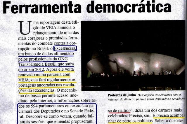 Veja, Editorial 21ago13