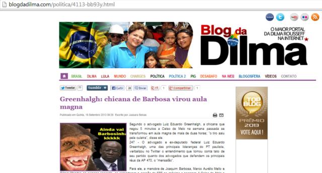 Blog da Dilma, macaco, Reinaldo