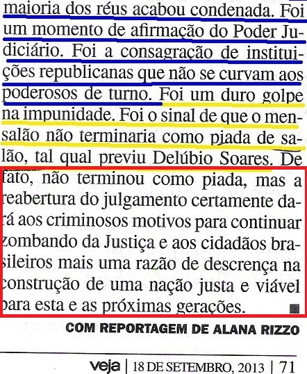 Veja, 18set13, MENSALÃO, A MAIORIA DOS REUS