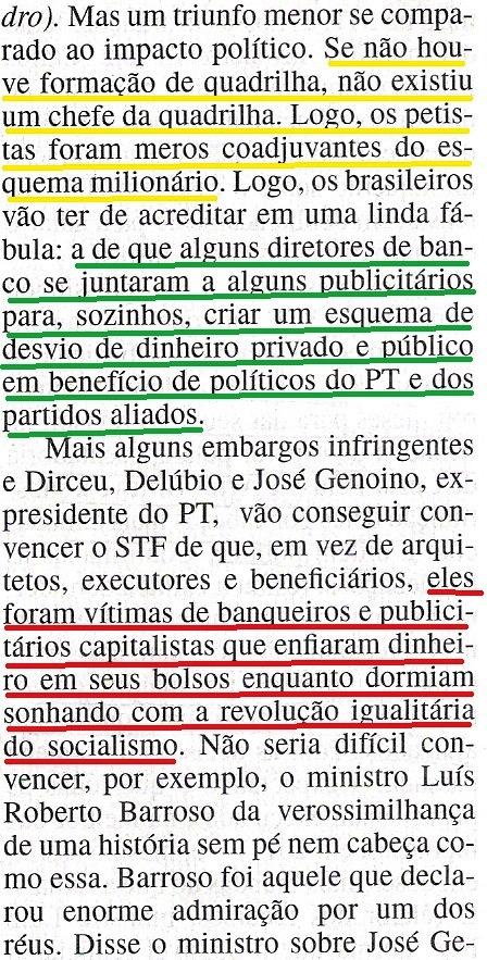 Veja, 25set13, eLES RIEM 6 ...formação quadrilha, inffrigentes, Barroso