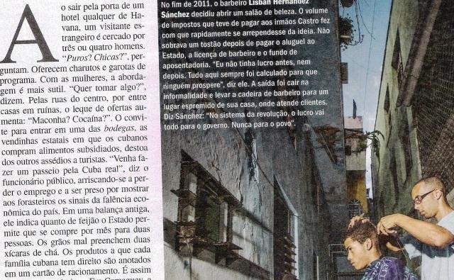 CUBA, 1.A,VEJA ESPECIAL DE 06NOV13