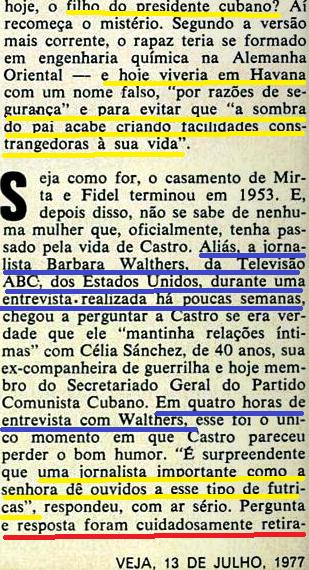 Fidel  dá entrevista à imprensa burguesa americana