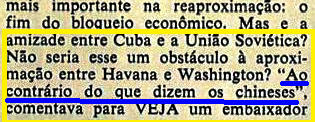 fidel, URSS ESTIMULAVA A RELAÇÃO CUBAxEUA 1