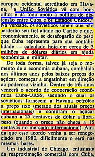 fidel, URSS ESTIMULAVA A RELAÇÃO CUBAxEUA - Cópia