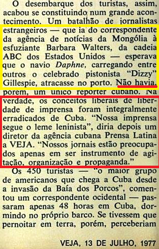 fidel, veja, turistas americanos, imprensa cubana