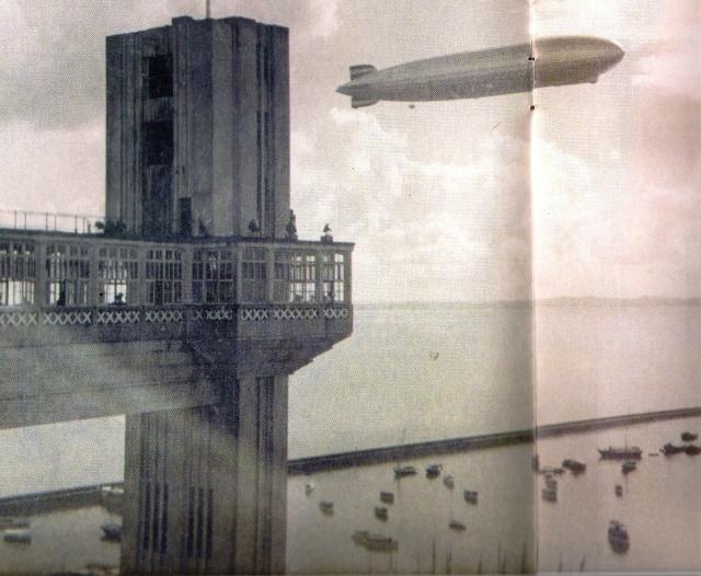 Salvador, década de 30, elevador, zepelling