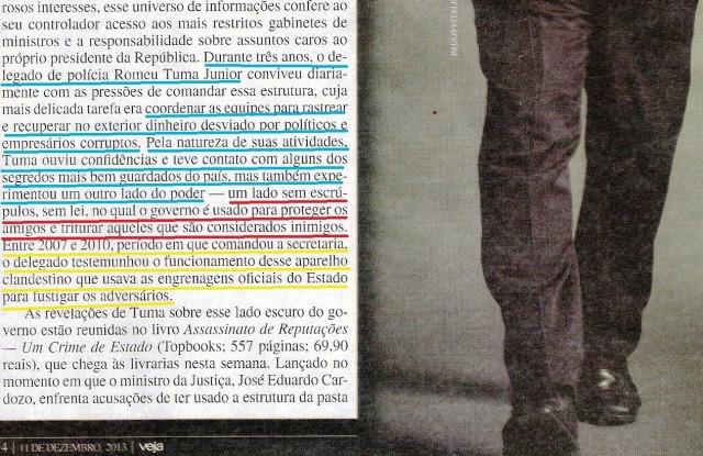 o livro bomba romeu,  veja 11dez13 1 - Cópia