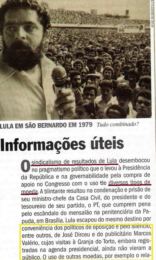 o  livro bomba romeu,  veja 11dez13 7 - LULA, TUMÃO1