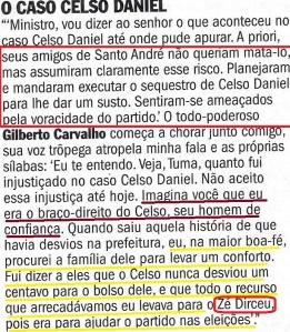 o  livro bomba romeu,  veja 11dez13 CELSO DANIEL