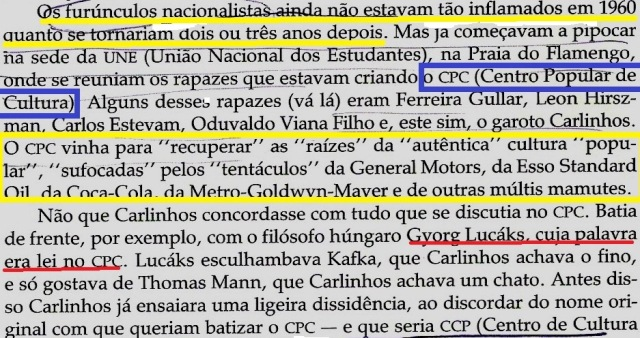 CHEGA DE SAUDADE, rUY cASTRO, CPC, CARLINHSO YRA, FL 261 - 1