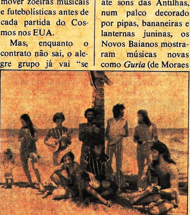 Novos baianos, nota da POP, outubro 75, B