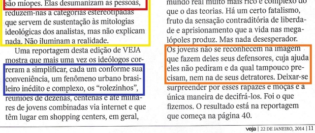 Rolezinho, veja 22jan14, EDITORIAL - 3