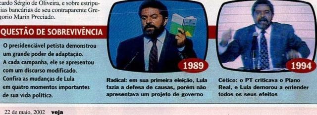 Veja e lula, 22maio02, 1989 E 1994