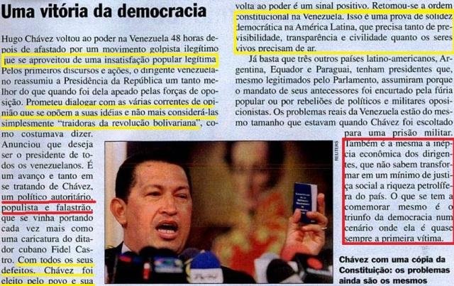 Veja, editorial a volta da democracia, chaves, 24abr2002, A