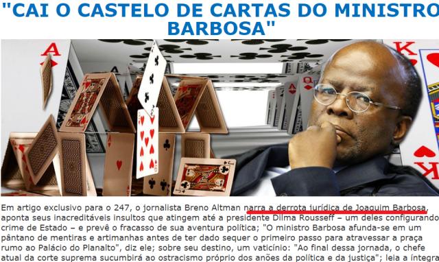 Min. Barbosa, 247, castelo de areia