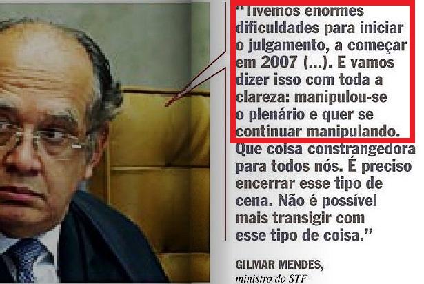 Min. Gilmar Mendes, Veja nov13