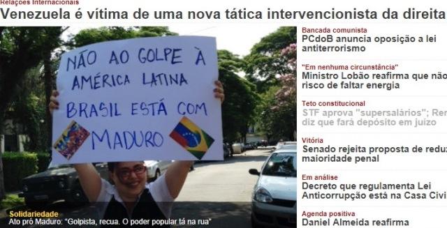 PCdoB, MADURO, GOLPE, DIREITA...