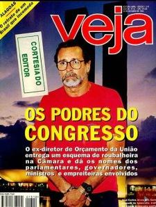 ANÕES DO ORÇAMENTO, CAPA DE VEJA