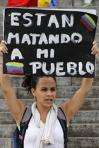 venezuela, cartaz matando meu povo