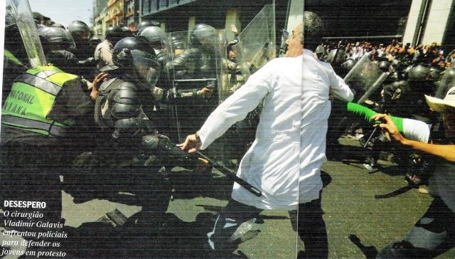 Venezuela, médico, protestos