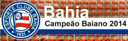 bahia, campeão 2014, letra e escudo