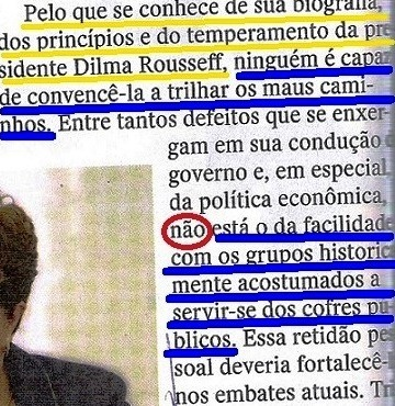 AS VIRTUDES DE DILMA, EDITORIAL, 2