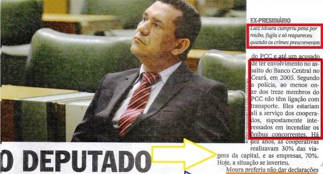 DEPUTADO INCENDIÁRIO, LUIZ MOURA, Veja 28maio14, 1