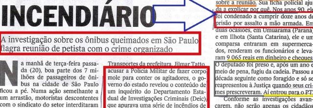 DEPUTADO INCENDIÁRIO, LUIZ MOURA, Veja 28maio14, 2