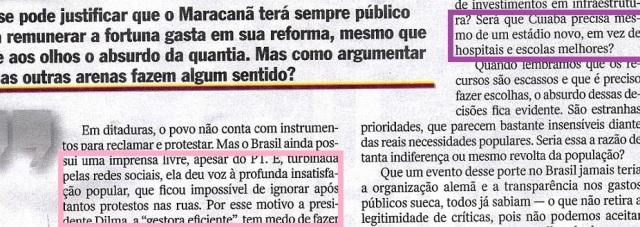 ESTRANHAS PRIORIDADES, Rodrigo Costantino, Veja, 21maio14, 3