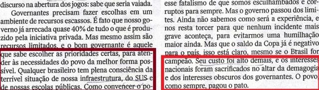ESTRANHAS PRIORIDADES, Rodrigo Costantino, Veja, 21maio14, 4
