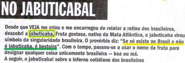 jabuticaba, Veja 1