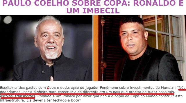 Paulo Coelho, 247, COPA